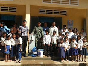 This school received a Biosand water filter. Clean drinking water is essential but many people in Cambodia lack access.