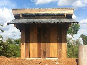 This school in the countryside of Cambodia received a toilet and a washing basin to improve hygiene.