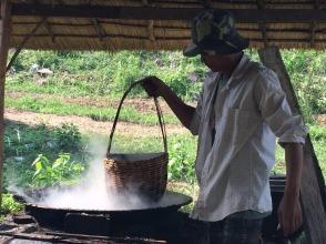 Witte peper wordt gemaakt